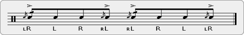 Alternated Cheese Pataflafla Rudiment Sheet Music