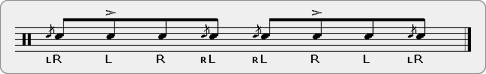 Alternated Pattyacue Rudiment Sheet Music
