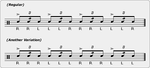 Alternated Swiss Tap Drag Rudiment Sheet Music