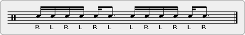 Alternating Single Stroke Six Rudiment Sheet Music
