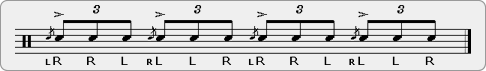 Alternating Swiss Army Triplet Rudiment Sheet Music