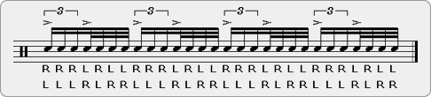 Beater Paradiddle Rudiment Sheet Music