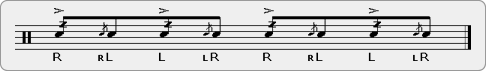 Buzz Flaps Rudiment Sheet Music
