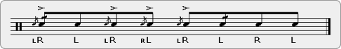 Cheese Chain Rudiment Sheet Music