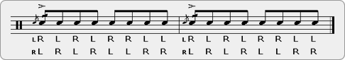 Cheese Double Paradiddle-diddle Rudiment Sheet Music