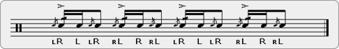 Cheese Flammed Zigiddy Bops Rudiment Sheet Music