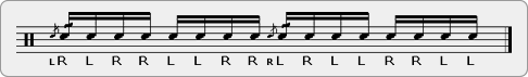 Cheese Paradiddle-diddle-diddle Rudiment Sheet Music