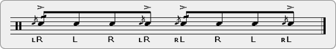 Cheese Paradiddle-Flafla Rudiment Sheet Music