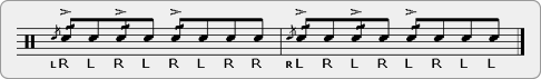 Cheese Swiss Triple Paradiddle Rudiment Sheet Music