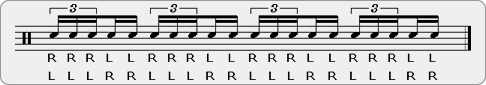 Chinese Fives Rudiment Sheet Music