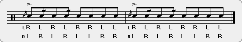 Double Flam Drag Diddle-diddle Rudiment Sheet Music