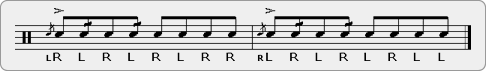 Double Flam Drag Triple Paradiddle Rudiment Sheet Music