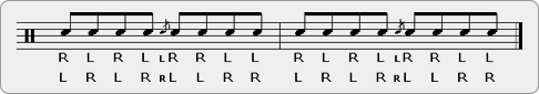 Double Parafladdle-diddle Rudiment Sheet Music