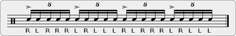 Five Stroke Paradiddle Rudiment Sheet Music