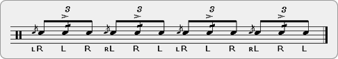 Flam Accent Drag Rudiment Sheet Music