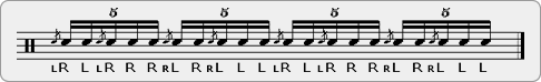 Flam Beaters Rudiment Sheet Music