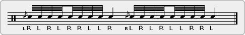 Flam Double Paradiddle-diddle Nine Stroke Roll