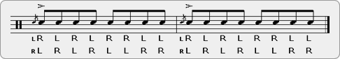 Flam Double Paradiddle-diddle Rudiment Sheet Music