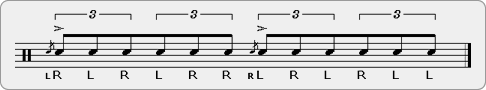 Flam Double Paradiddle Rudiment Sheet Music