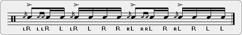 Flam Drag Flamadiddle Rudiment Sheet Music