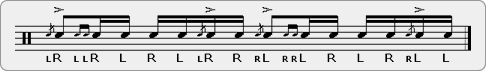 Flam Drag Parafladdle Rudiment Sheet Music