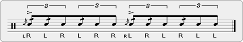 Flam Five Drag Diddle Rudiment Sheet Music