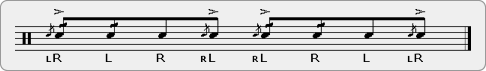 Flam Five Flafla Rudiment Sheet Music