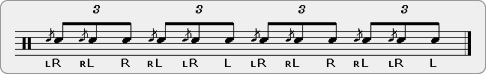 Flam Flamalet Rudiment Sheet Music