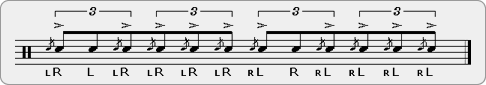 Flam-Four Flams Rudiment Sheet Music