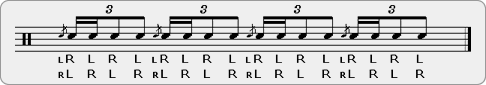 Flam Hertas Rudiment Sheet Music