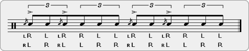 Flam Parafladdle-diddle Rudiment Sheet Music
