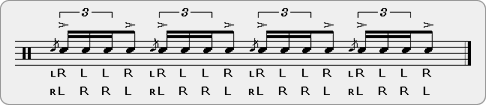 Flam Puguda Rudiment Sheet Music
