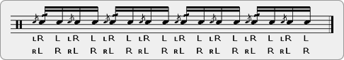 Flam-Single (with Cheese on One) Rudiment Sheet Music