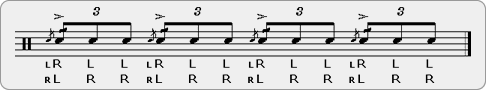 Flam Stutters Rudiment Sheet Music