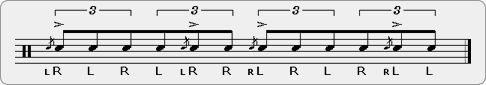 Flam Tap Double Paradiddle Rudiment Sheet Music