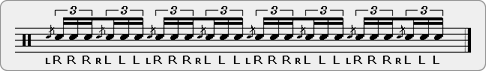 Flam Triple Stroke Roll Rudiment Sheet Music