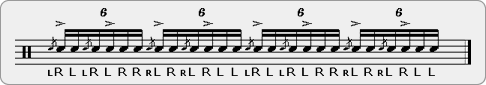 Flama Flamacue-Diddle Rudiment Sheet Music