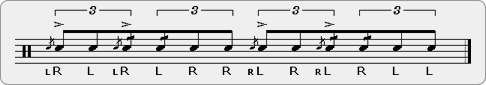 Flama Flive-a-Tap Rudiment Sheet Music