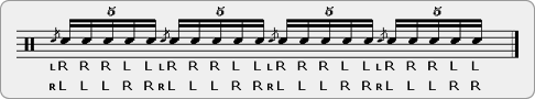 Flammed Eggbeaters Rudiment Sheet Music