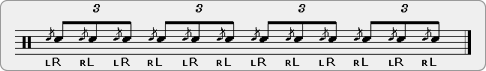 Flammed Triplets Rudiment Sheet Music