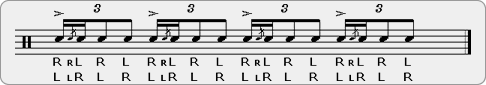Flamtas Rudiment Sheet Music