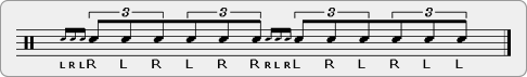 Four Stroke Ruff Double Paradiddle Rudiment Sheet Music