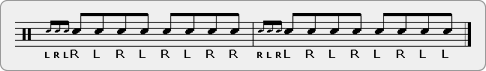 Four Stroke Ruff Triple Paradiddle Rudiment Sheet Music