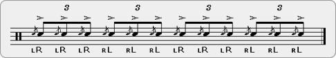 French Flams Rudiment Sheet Music