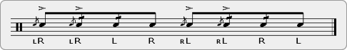 Fubars Fives Rudiment Sheet Music