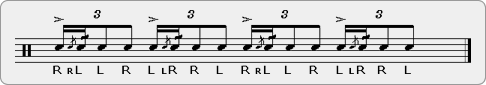 Funky Cheese Rudiment Sheet Music