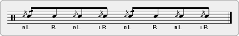 Inverted Cheese Flama Chuck Rudiment Sheet Music