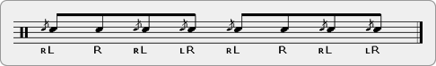 Inverted Flama Chuck Rudiment Sheet Music