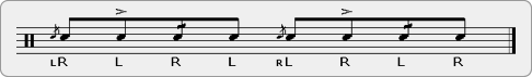 Inverted Flamacue Drag Rudiment Sheet Music