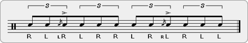 Para Flamadiddle Rudiment Sheet Music